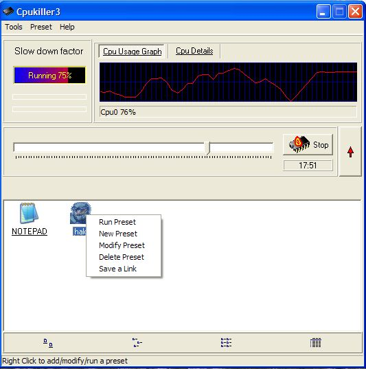 Click to view Cpukiller3 1.0.5 screenshot